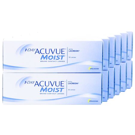 1 DAY ACUVUE MOIST Annual Supply Savings Pack Contact Lenses