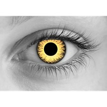 Zombie Undead Yellow contact lenses