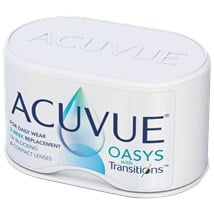 ACUVUE OASYS with Transitions contact lenses