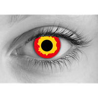 Fire contact lens