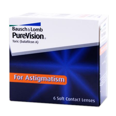 PureVision Toric For Astigmatism contact lenses