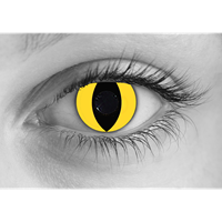 Yellow Cat contact lens
