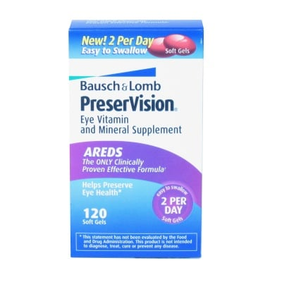 Buy Bausch & Lomb Preservision 120 Soft Gels, Contact Lens Accessory online.