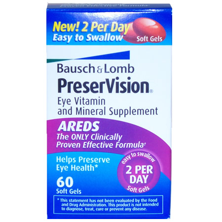 Buy Bausch & Lomb Preservision (60), Contact Lens Accessory online.