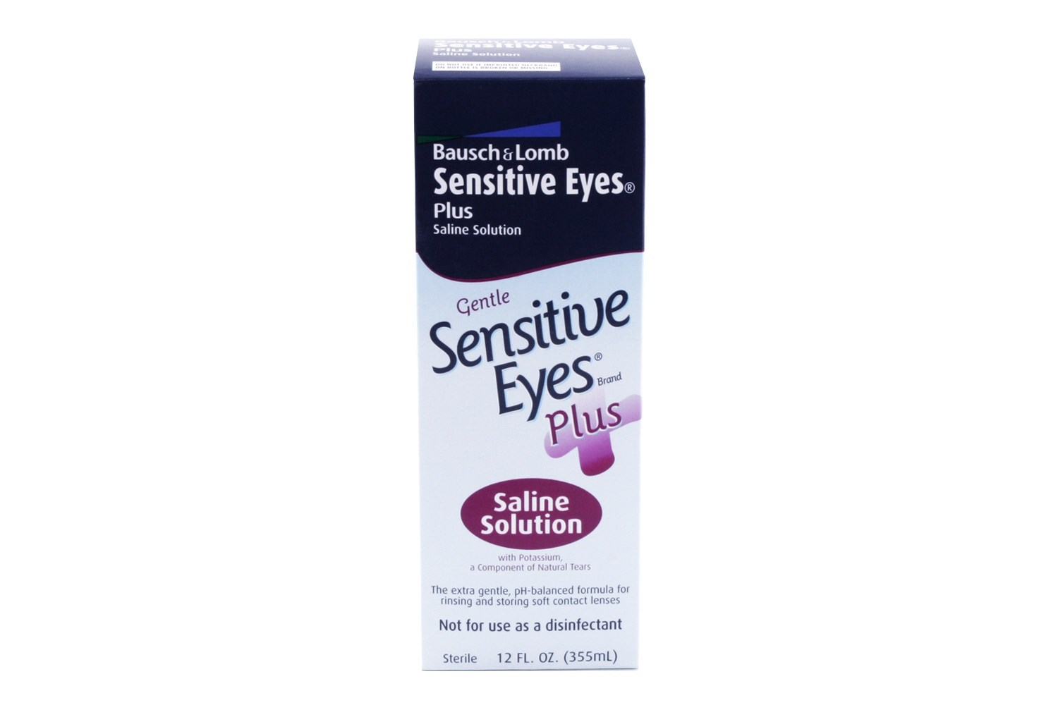 Sensitive Eyes Plus Saline Contact Lens Solution 12 fl oz