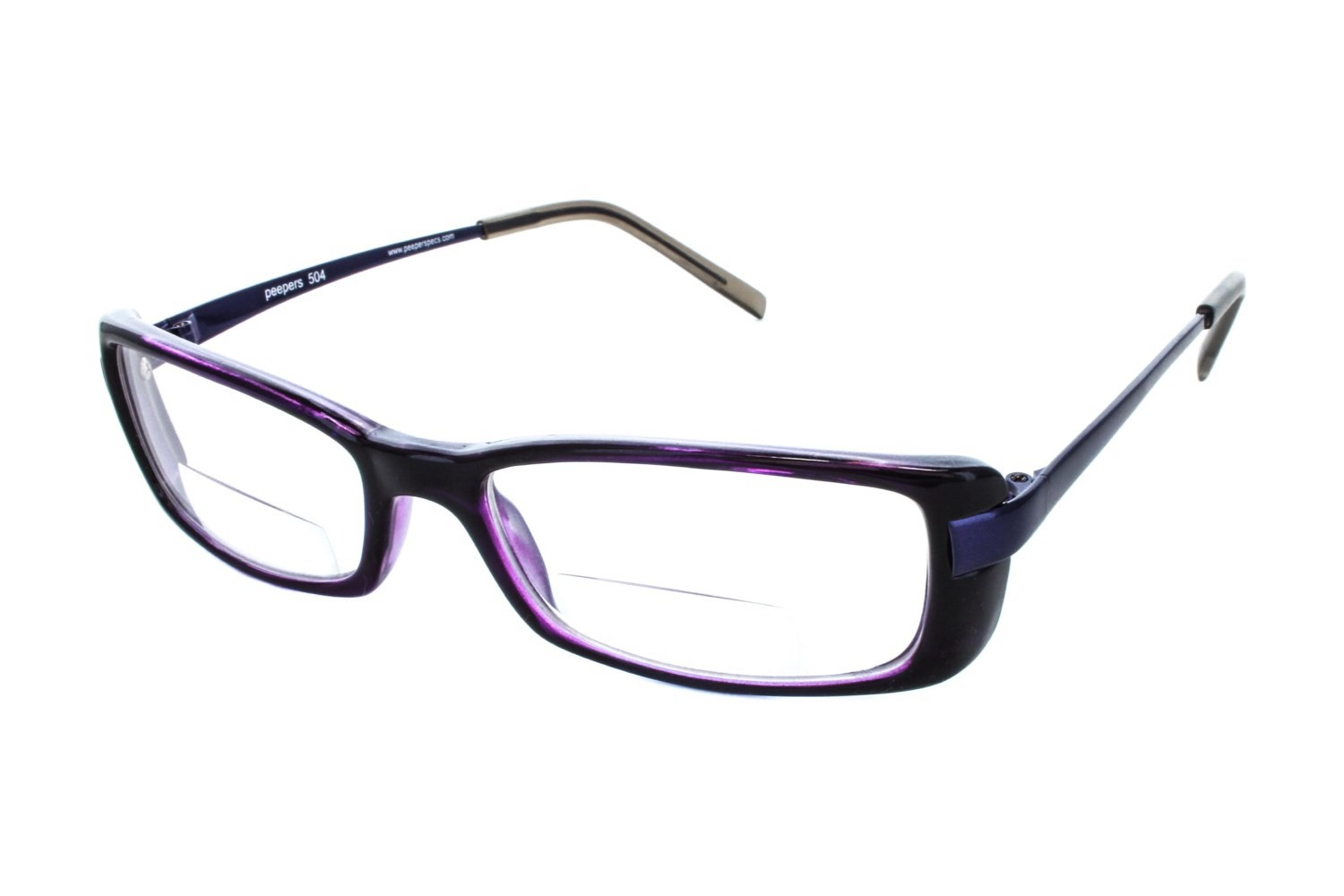 Peepers Extra Credit Clear Bifocal Glasses