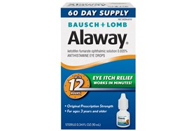 Bausch and Lomb Alaway 60 Day Supply Eye Itch Relief Drops and Treatment (.34 fl oz)
