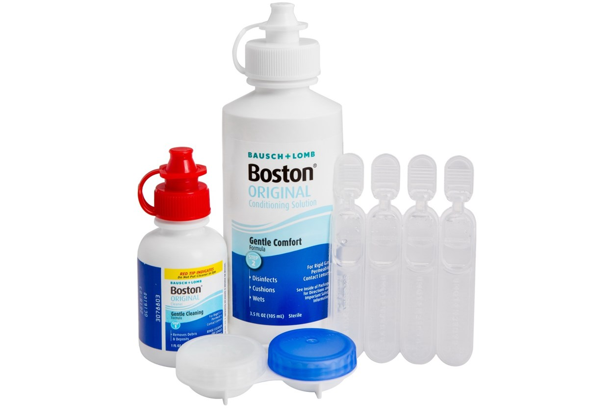 Alternate Image 1 - Boston Care System for Rigid Gas Permeable Hard Contact Lenses  SolutionsCleaners