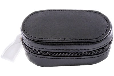 Amcon Leather Contact Lens Cases Black