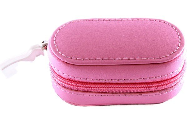 Amcon Leather Contact Lens Cases Pink Cases