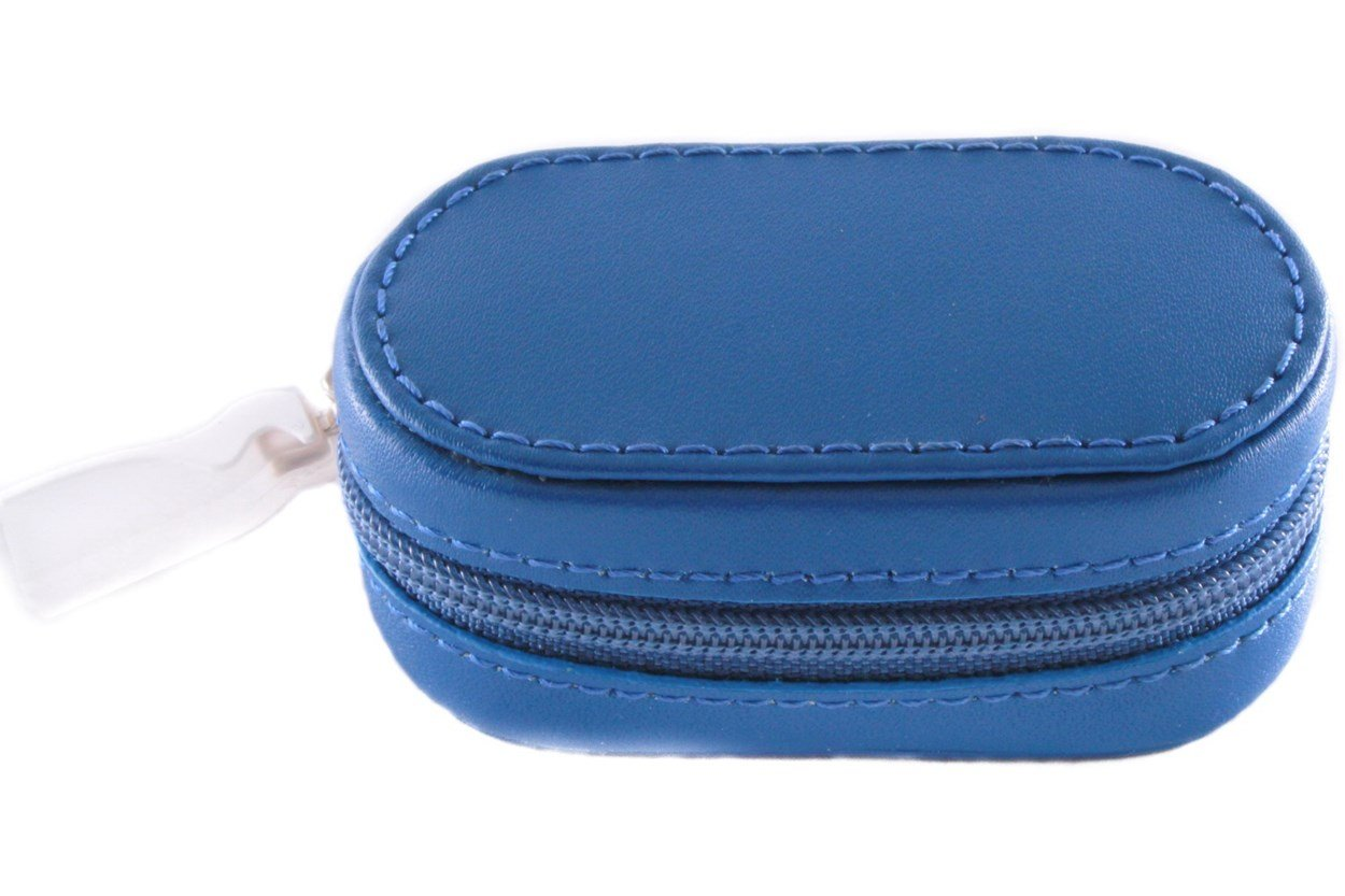 Amcon Leather Contact Lens Cases Blue Cases