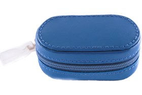 Amcon Leather Contact Lens Cases Blue