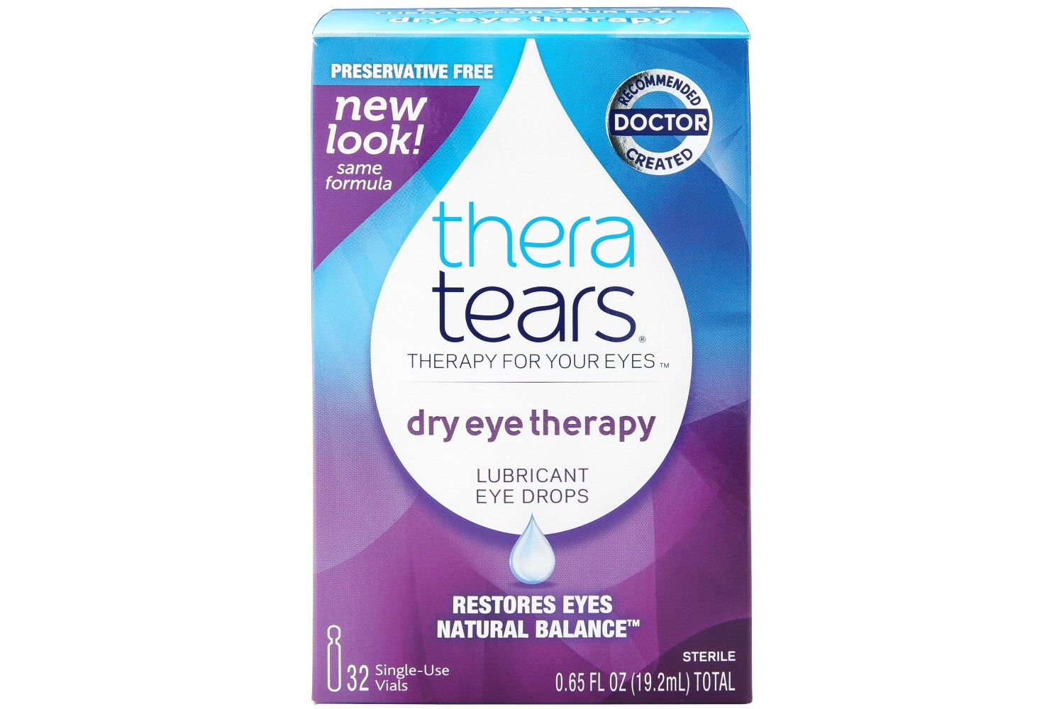 Thera Tears Lubricant Eye Drops with Twist-Top Vial (32 Containers) AC170