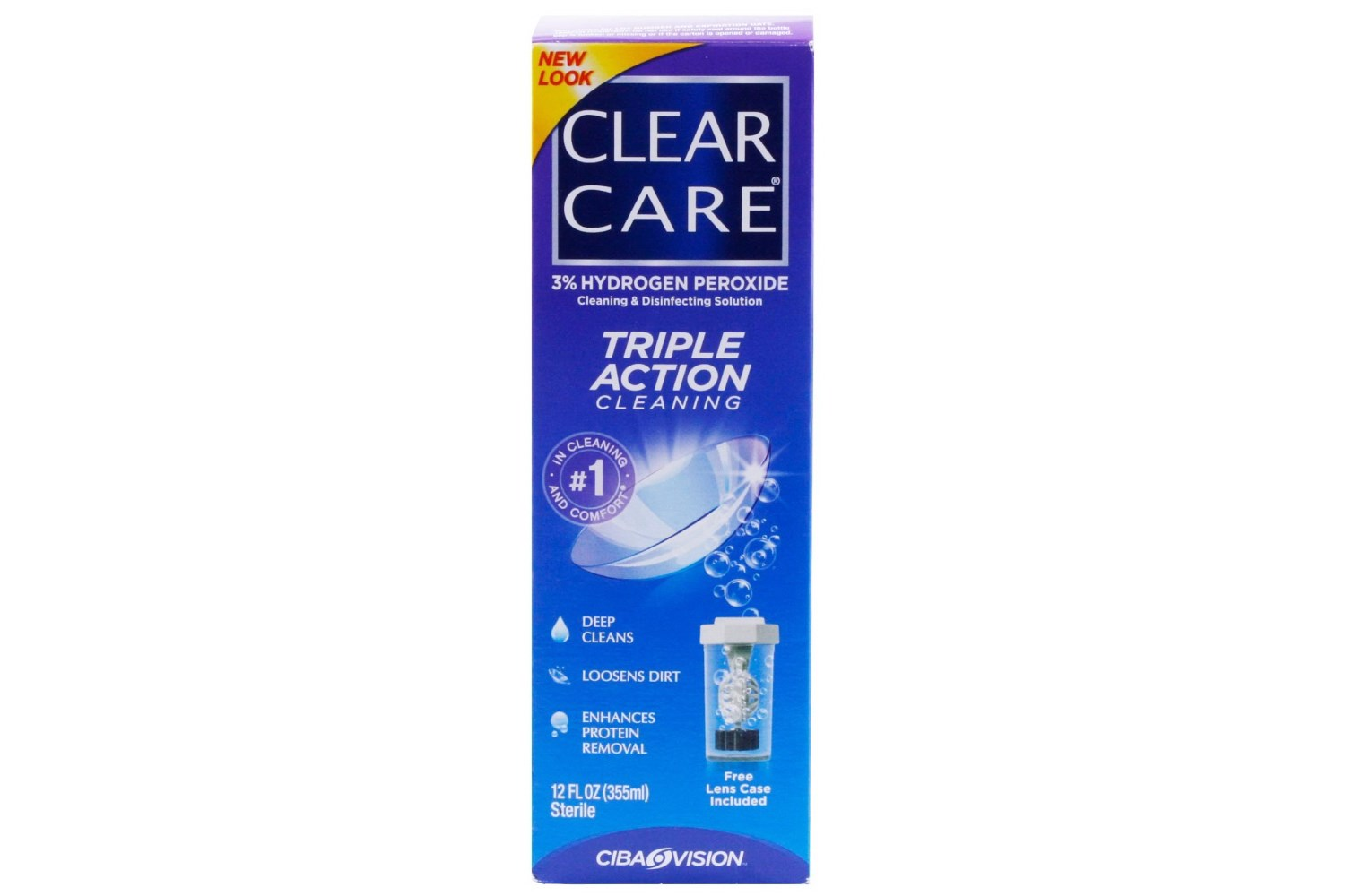Clear Care Cleaning and Disinfecting Contacts Solution 12 floz 360ml