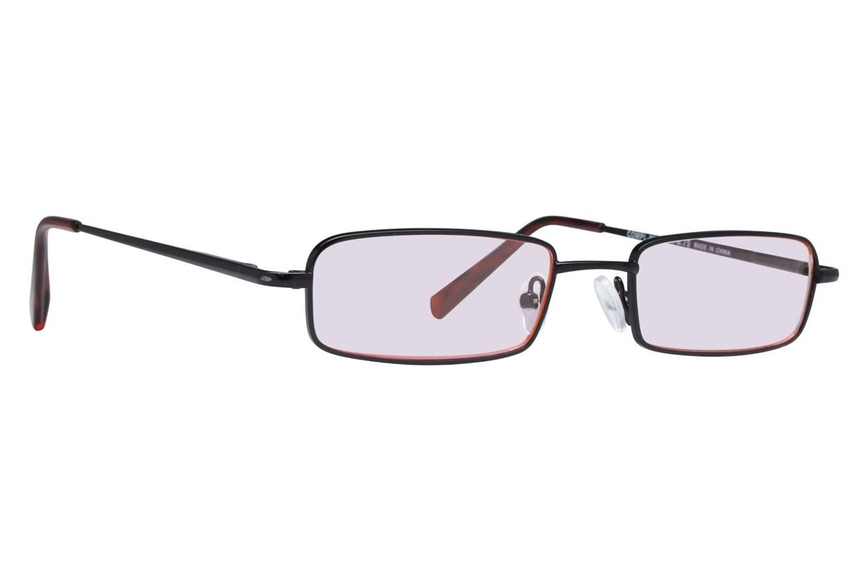 CalOptix Medium Rectangle Black Computer Glasses Black ComputerVisionAides