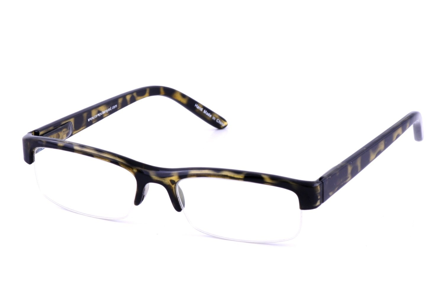 Tortoise Shell Glasses Half Frame : Reading Glasses Computer Vision Aides Contact Lenses ...