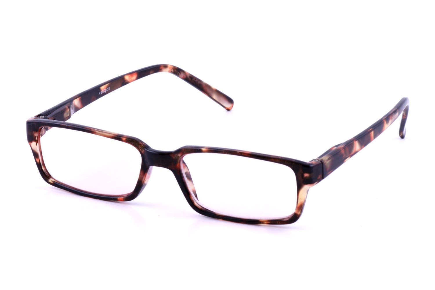 California Accessories Rectangle Plastic Tortoise Frame Computer Glasses