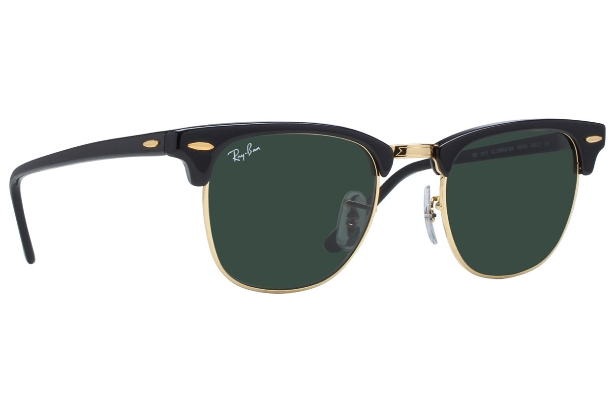 Ray-Ban® RB3016 49 Clubmaster Black Sunglasses