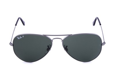 Ray-Ban® RB3025 58 Aviator Large Polarized Gray