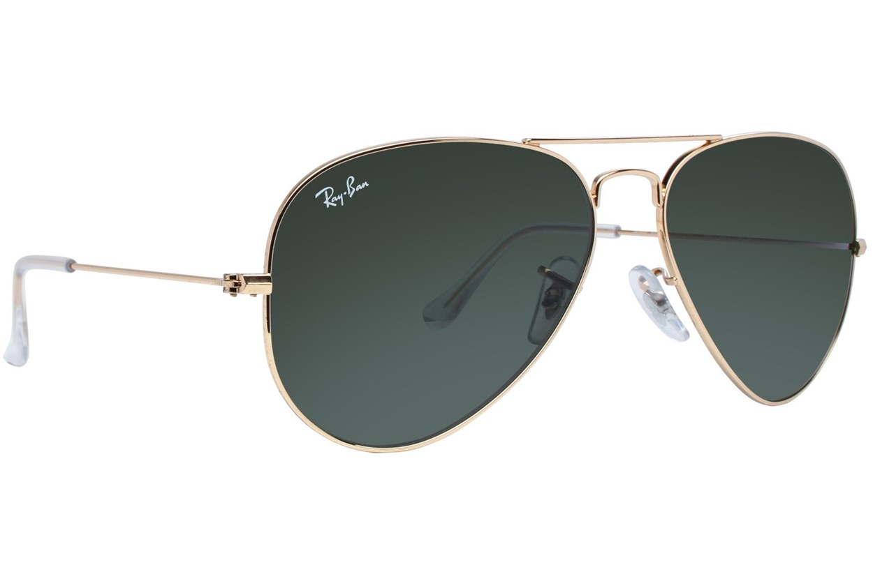 Ray-Ban® RB3025 58 Aviator Large Gold Sunglasses