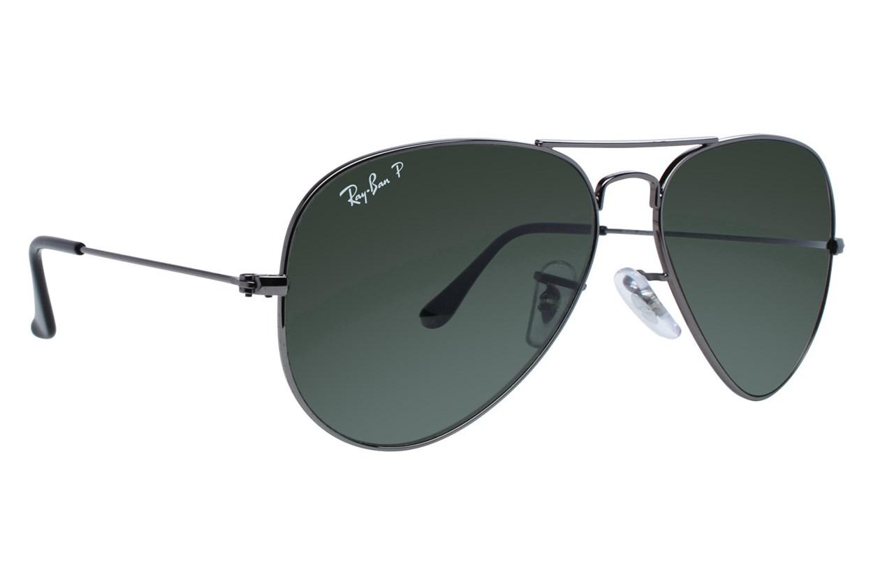 Ray-Ban® RB3025 58 Aviator Large Black Sunglasses