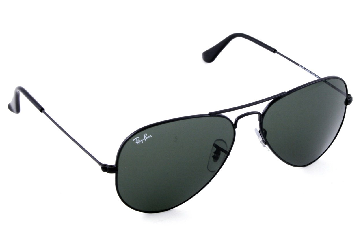 Ray-Ban® RB3025 58 Aviator Large Black Sunglasses