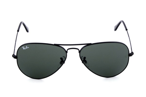 Ray-Ban® RB3025 58 Aviator Large Sunglasses - Black