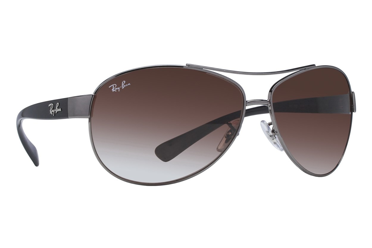 Ray-Ban® RB3386 63 Gray Sunglasses