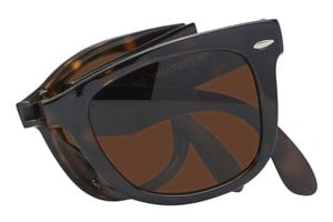 Click to swap image to alternate 1 - Ray-Ban® RB 4105 50 Folding Wayfarer Sunglasses - Tortoise