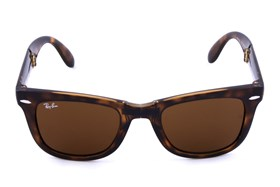 Ray-Ban® RB 4105 50 Folding Wayfarer Tortoise