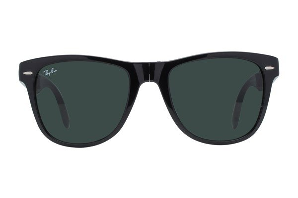 Ray-Ban® RB4105 54 Folding Wayfarer Black Sunglasses
