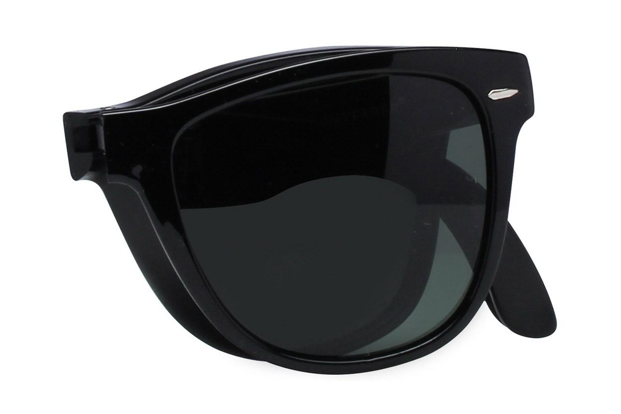 Ray-Ban® RB4105 54 Folding Wayfarer Black Sunglasses