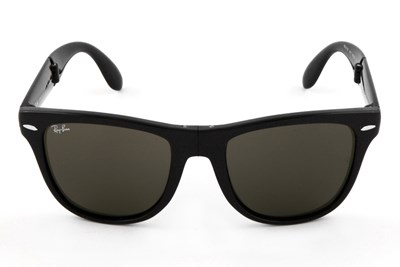 Ray-Ban® RB4105 54 Folding Wayfarer Black