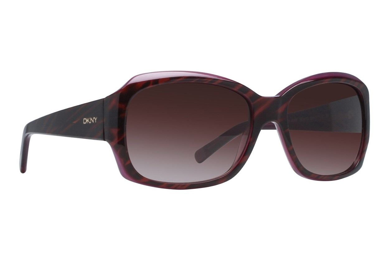 DKNY 4048 55 Striped Brown Sunglasses - Brown