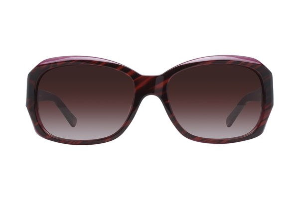 DKNY 4048 55 Striped Brown Brown Sunglasses