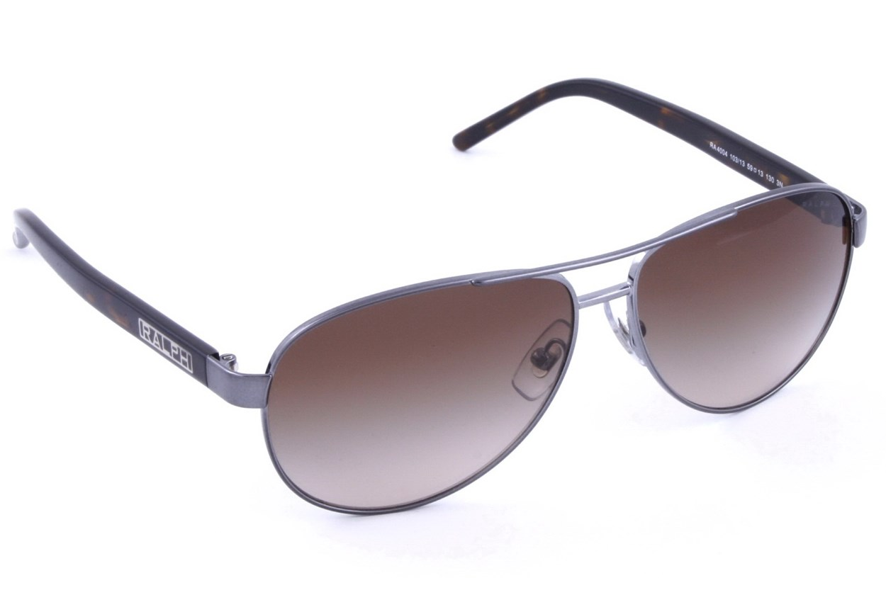 Ralph by Ralph Lauren RA4004 Gunmetal Grey Horn Gray Sunglasses