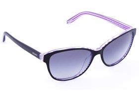Ralph by Ralph Lauren RA5128 Black with Purple Stripes Black