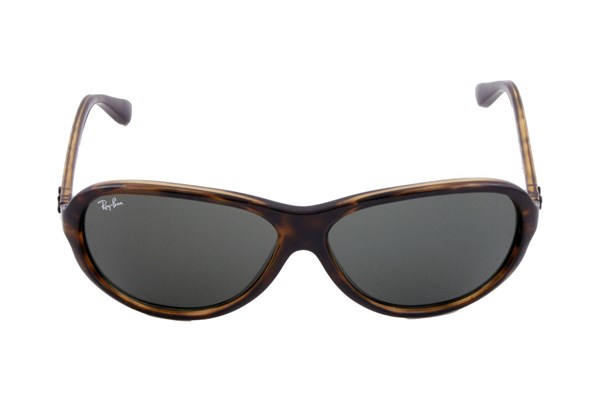 Ray-Ban® 4153 Plastic Aviator Sunglasses - Brown