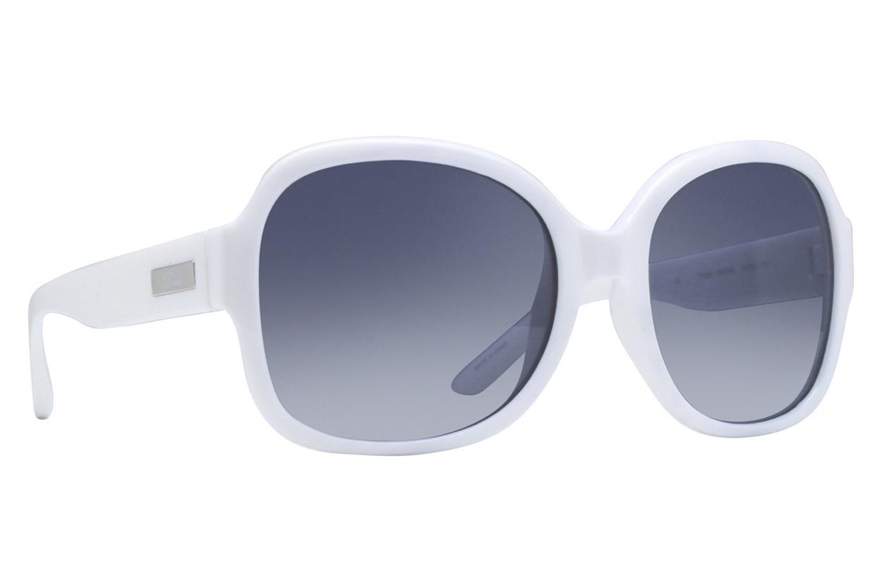 Dea Extended Size Desire 58 White Sunglasses