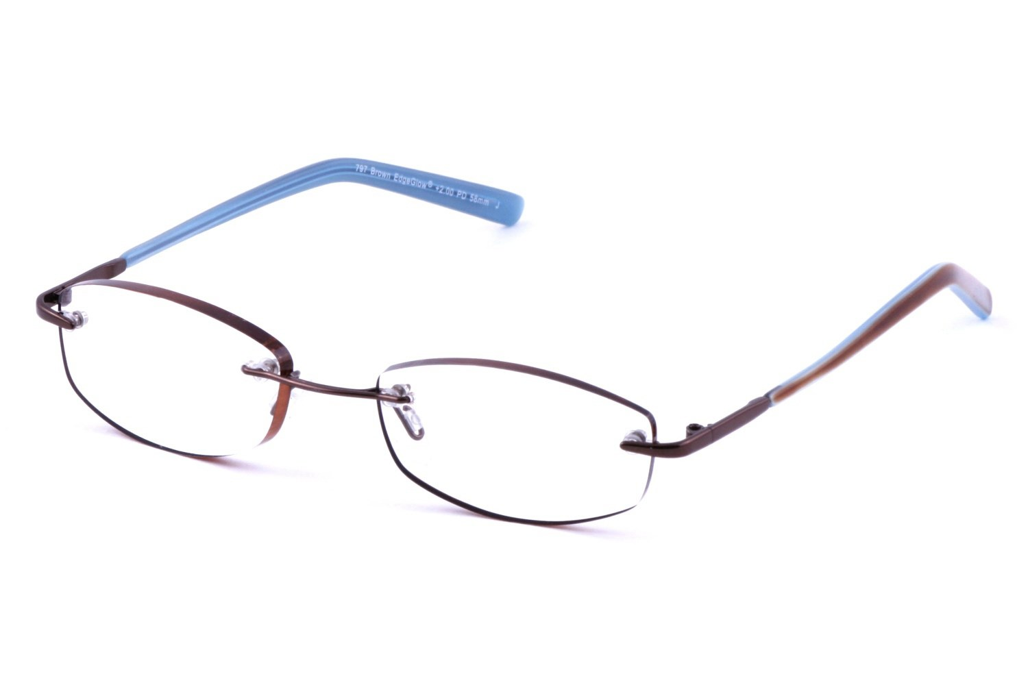 Cafe Readers 797 Womens EdgeGlow Rimless Cafe Reader