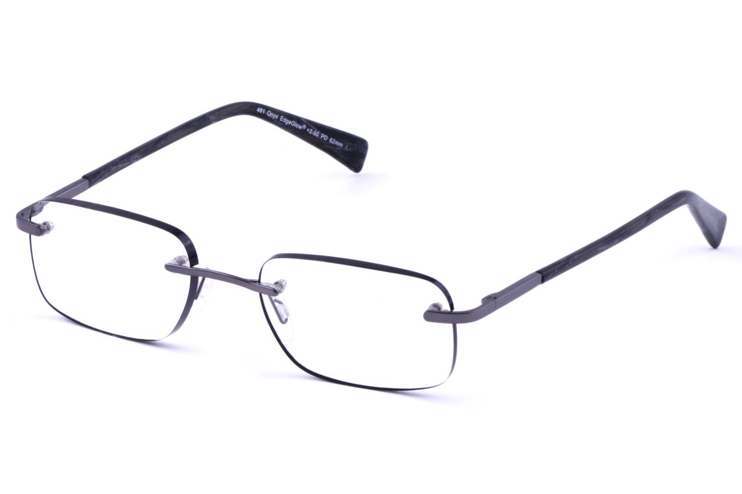 Cafe Readers 461 Mens EdgeGlow Rimless Cafe Reader