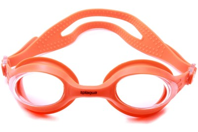 Splaqua Clear Prescription Swimming Goggles Orange