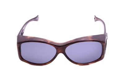 Fitovers Eyewear Glides - Sunglasses for Extra Small and Oval Eyeglass Frames Brown