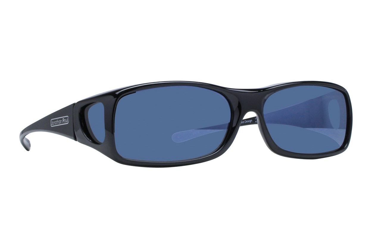 Fitovers Eyewear Aria - Over Glasses for Rectangle Frames Black Sunglasses