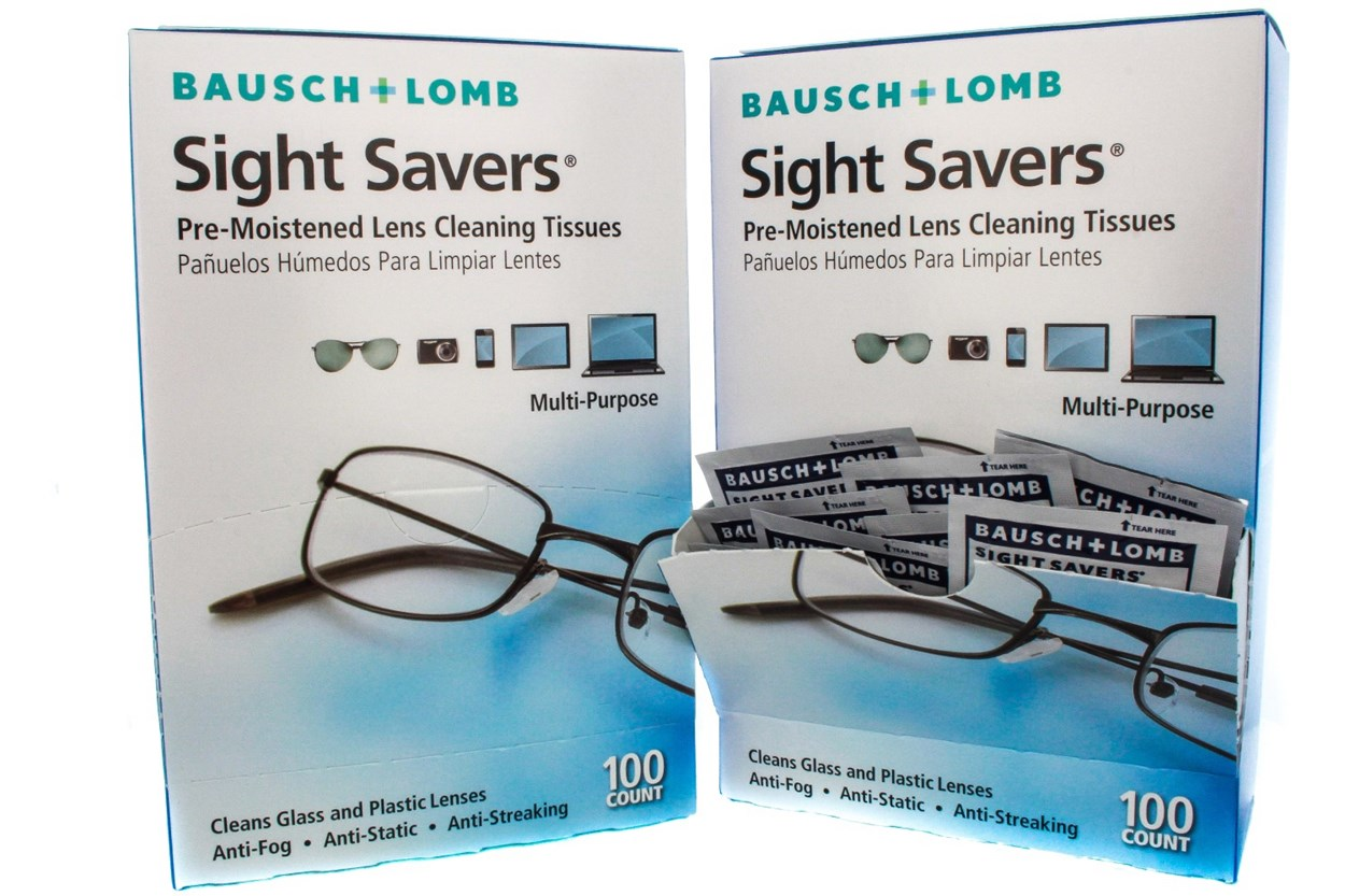 Bausch and Lomb Sight Savers Pre-Moistened Eyeglasses Cleansing Tissue (200 Towelette) 49