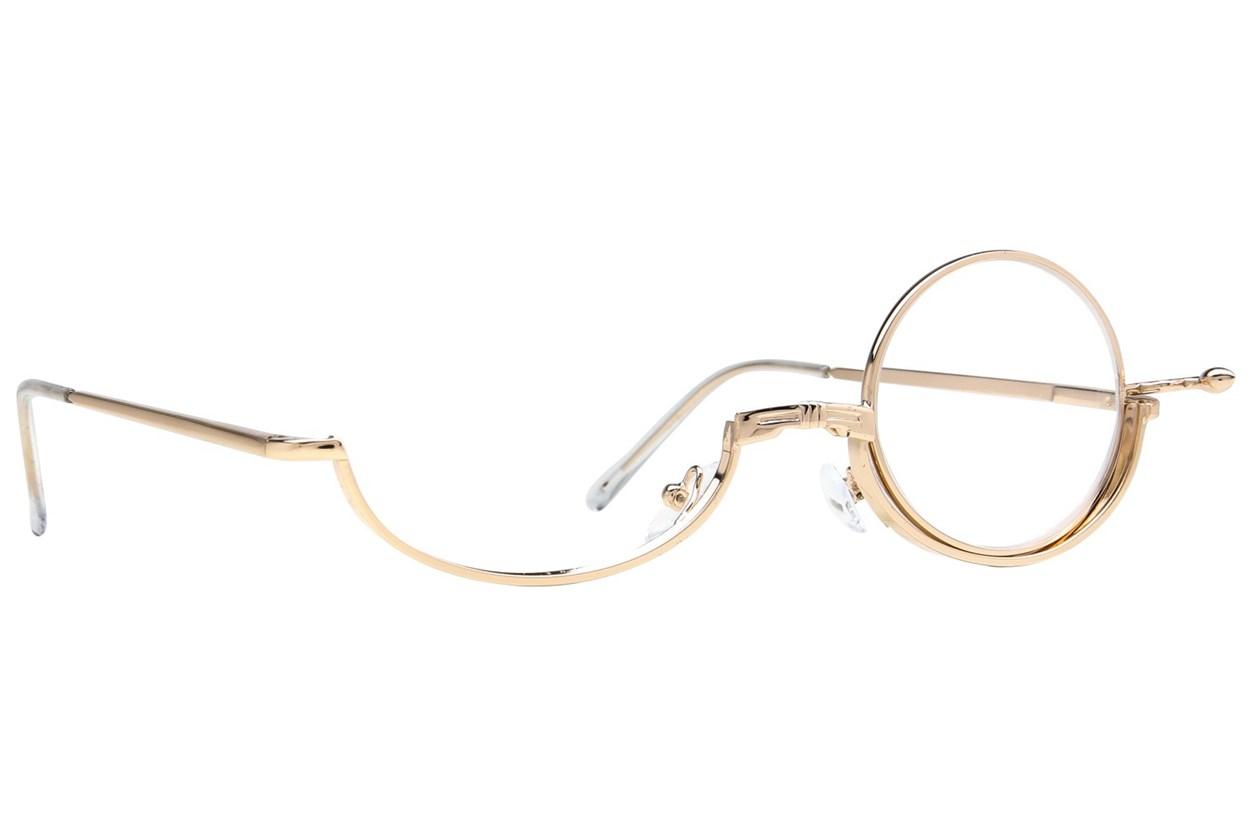Amcon Metallic Makeup Glasses Gold