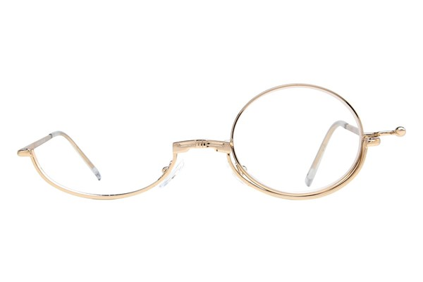 Amcon Metallic Makeup Glasses Gold ReadingGlasses