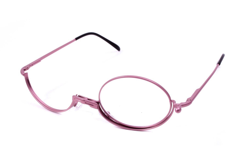 Amcon Pink Metallic Makeup Glasses