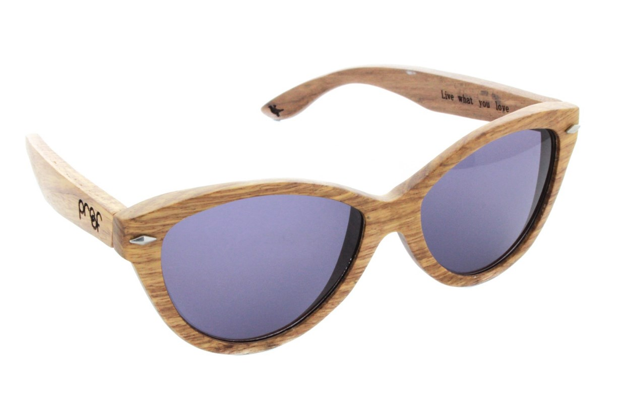 Proof McCall Lacewood Tan Sunglasses