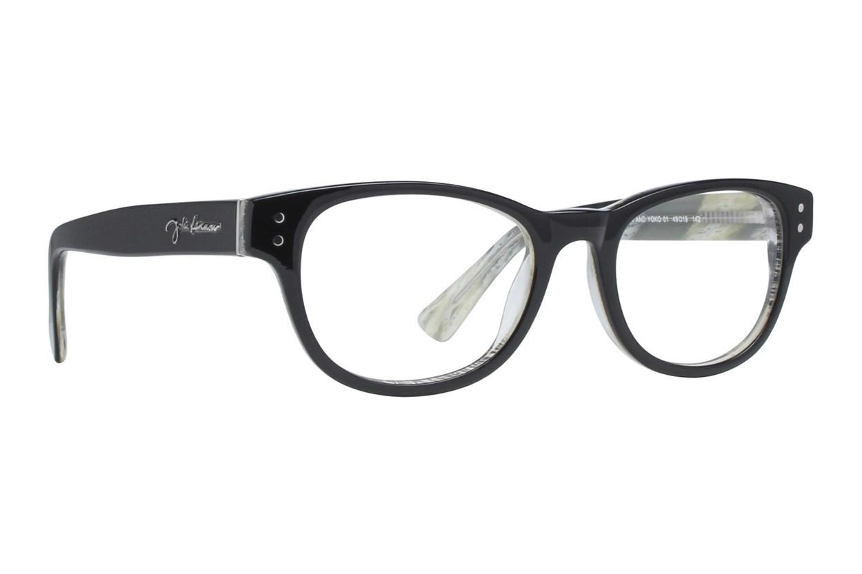 John Lennon John & Yoko Black Eyeglasses